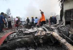 k54-300x205 Indonesian Military Plane Crashes Into Residential Area leaving Atleast 100 Dead