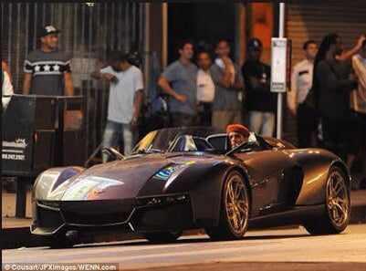 chris3 Chris Brown Flaunts His 200k Rezvani Beast Sports Car   Photos