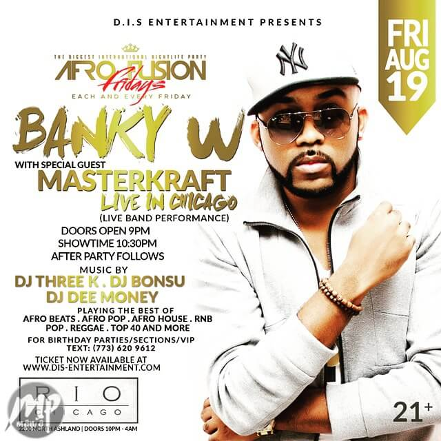 image2 Event; Banky W LIVE in Chicago (Afrofusion Fridays, August 19th)