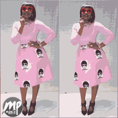 wp-1470029793827-1 Yemi Alade looking stunning in pink Jeremiah Ogbodo dress (Photo)
