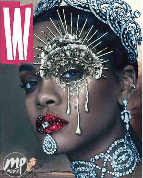wp-1470156199989-1 Bejeweled Rihanna stuns on the cover of W magazine