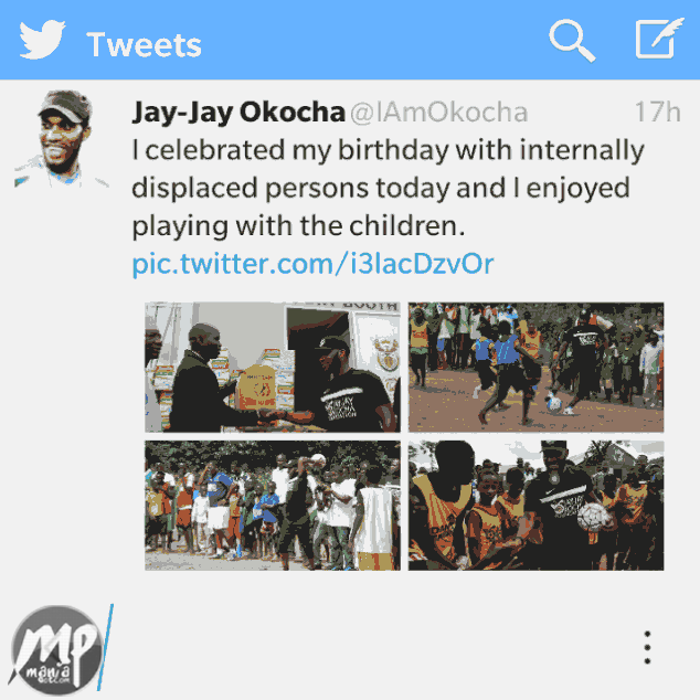 wp-1471324920431-1 Wow! Jay Jay Okocha Celebrated His Birthday With IDP's