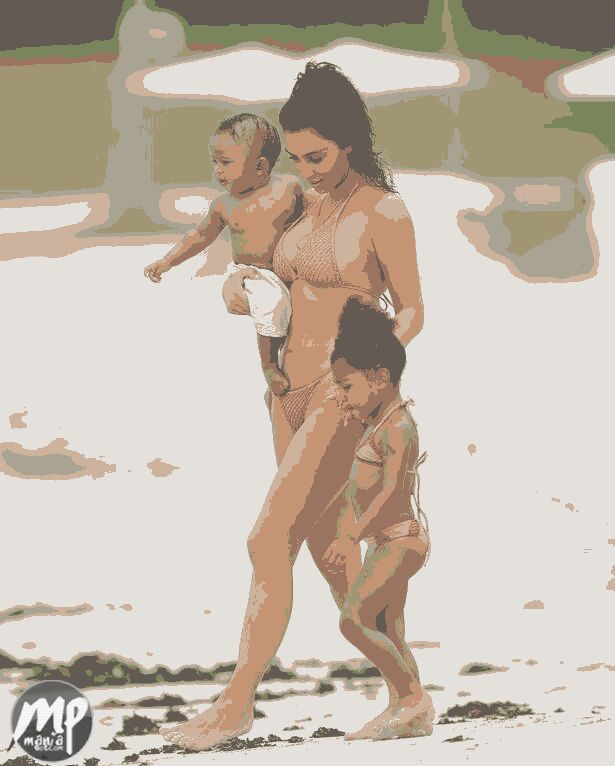 wp-1471584417917-1 Kim Kardashian enjoys Mexico beach with North & Saint West (Photo)