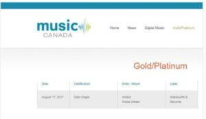 Wizkid-Canada-300x173 Wizkid's Come Closer Hits 500k sales in Canada (Certified Gold)