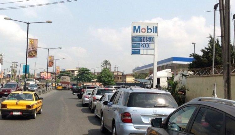 Mobil filling station along Pen Cinema road, Ogba