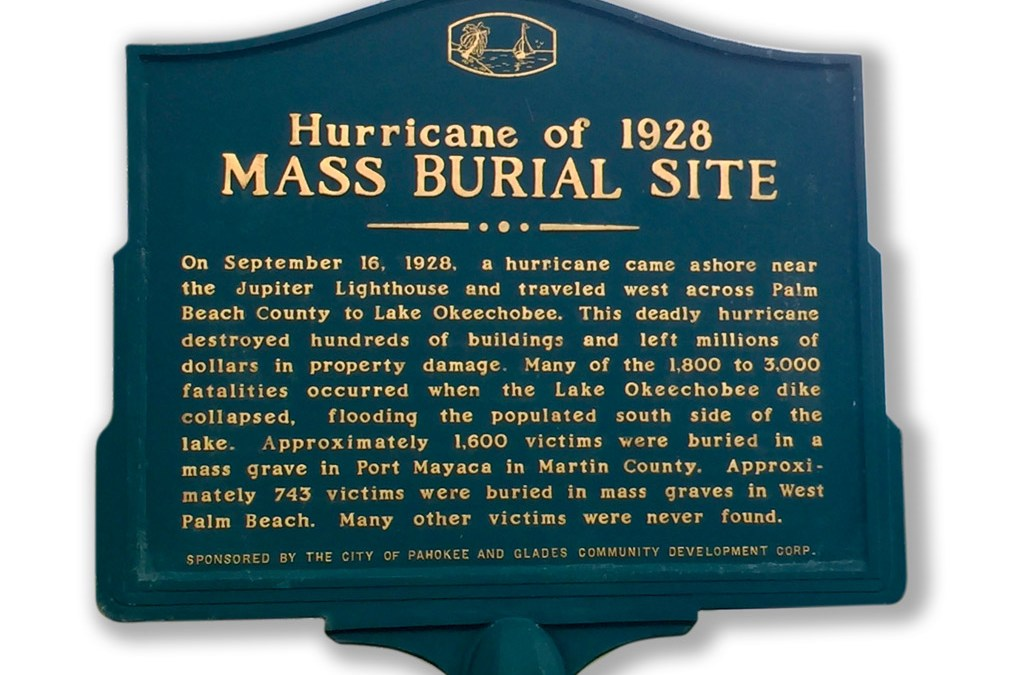 Mass Burial Site from 1928 Okeechobee Hurricane