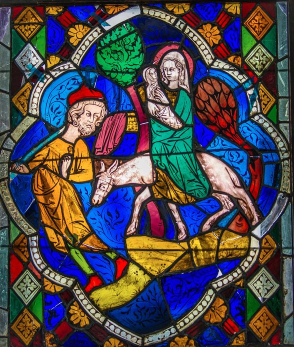 Flight Into Egypt Stained Glass Restoration Project - Deering Estate Foundation