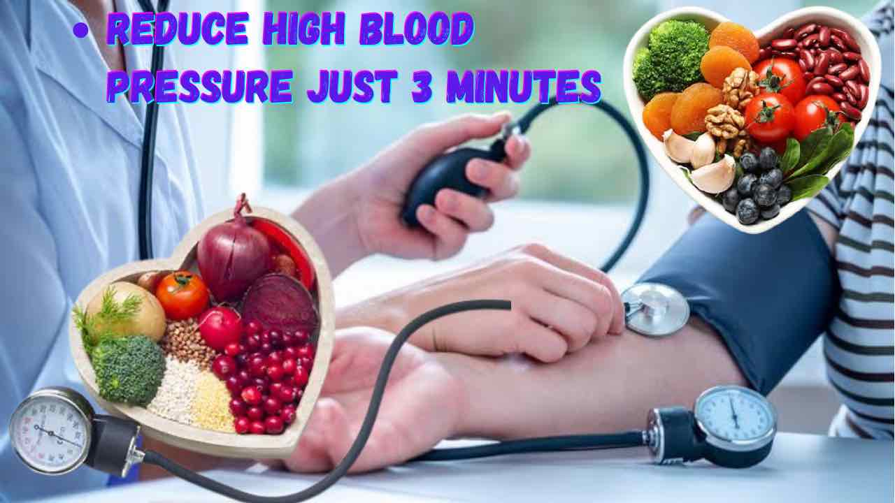 How to cure high blood pressure in 3 minutes