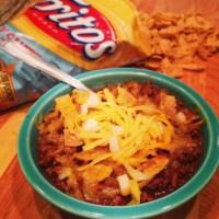 """My """"Top-Secret"""" Spicy Texas Chili Recipe & Frito Pie...."""
