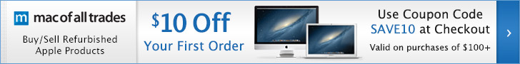 Certified and Refurbished Macbook Pros - Save $10 Off