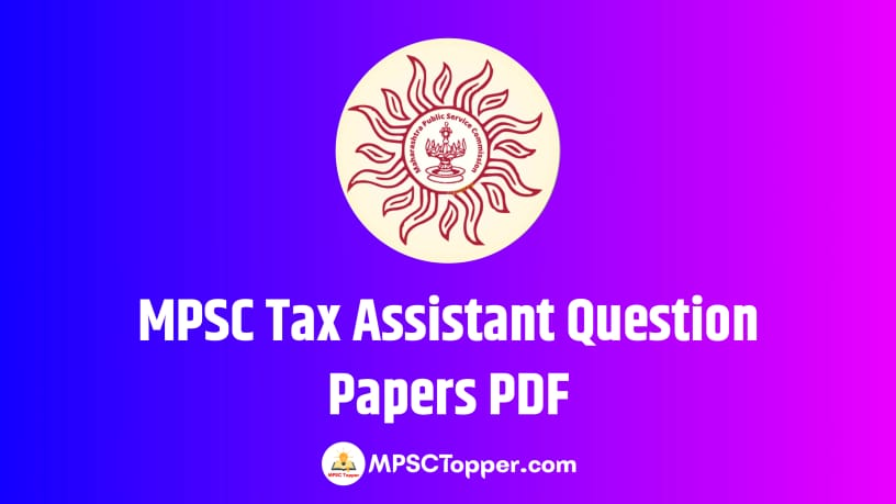 MPSC Tax Assistant Question Papers