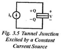 tunnel junction excited by a constant