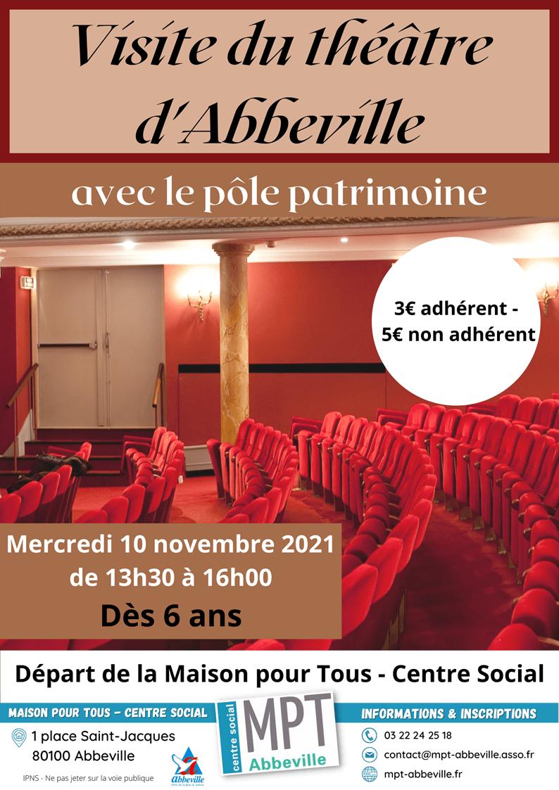 Après-midi ludiques en famille : visite du théâtre d'Abbeville
