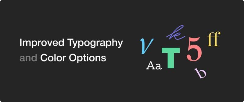 Advanced typography options