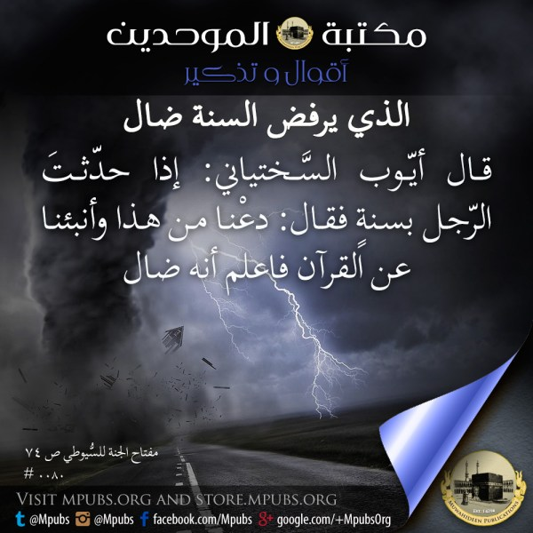 quote0080 the one who rejects the sunnah is astray ar