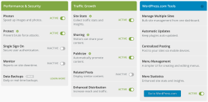 Jetpack offers a number of easy-to-use tools to help you manage your site.