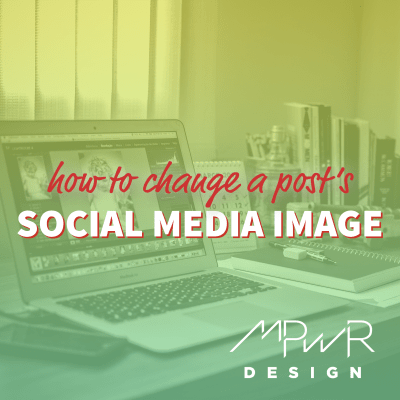 How to change a post's social media image