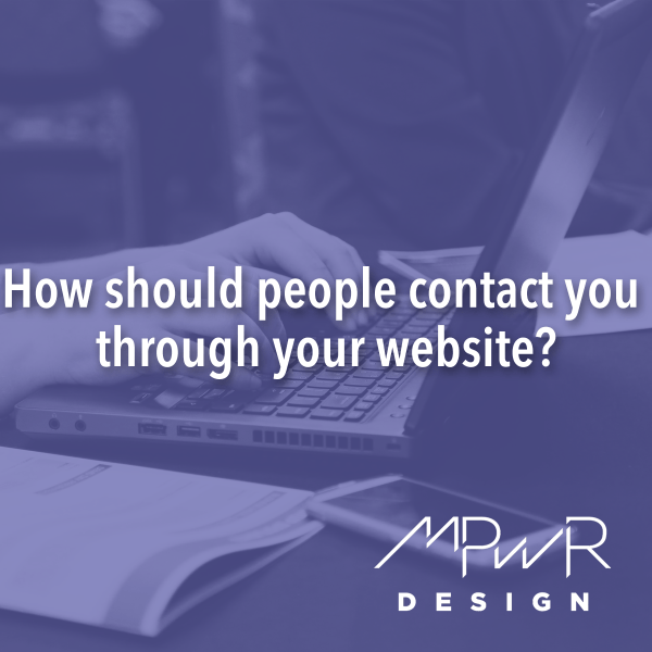 How should people contact you through your website?