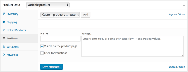 WooCommerce variable products