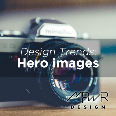 Website design trends: Hero images