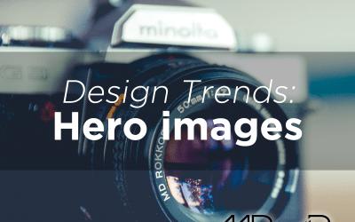 Website design trends: Hero images