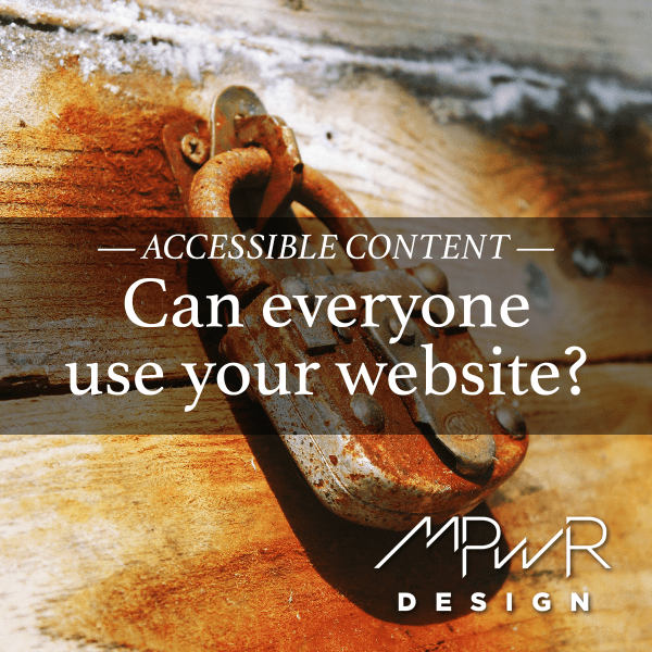 Visual content: Can everyone use your website?