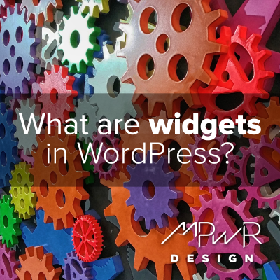 What are widgets in WordPress?