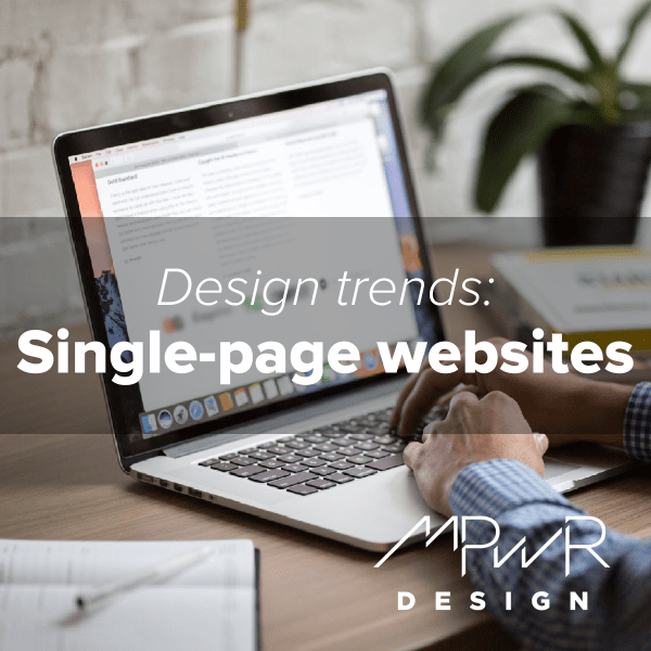 Website design trends: Single-page websites