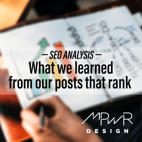 SEO Analysis: What we learned from our posts that rank