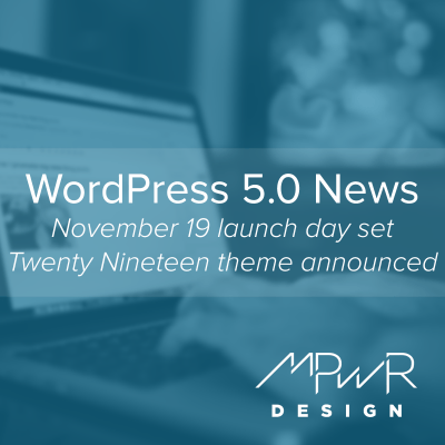 WordPress 5.0 news: Launch date set, new default theme announced