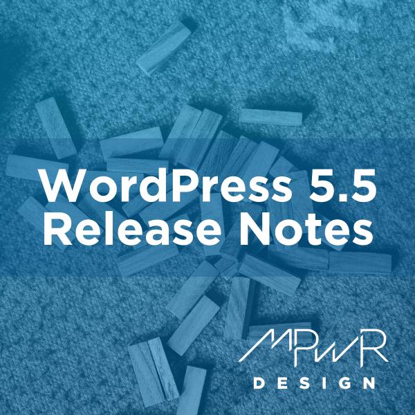 WordPress 5.5 Release Notes