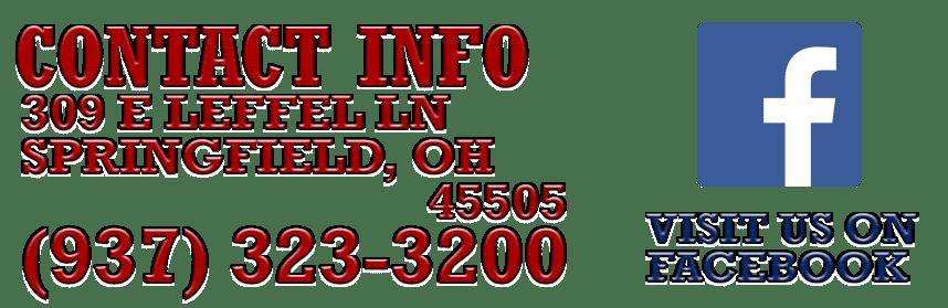 Contact info 309 E Leffel Ln Springfield, OH   45505 (937) 323-3200