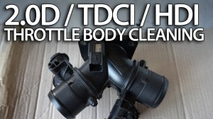 Diesel throttle body cleaning 20 HDi TDCi D  mrfixinfo