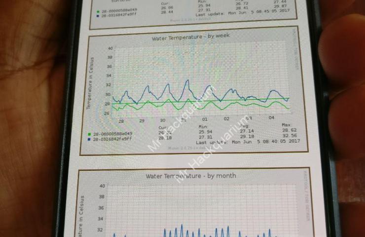 Consultation des graphs de température en temps réel sur mobile