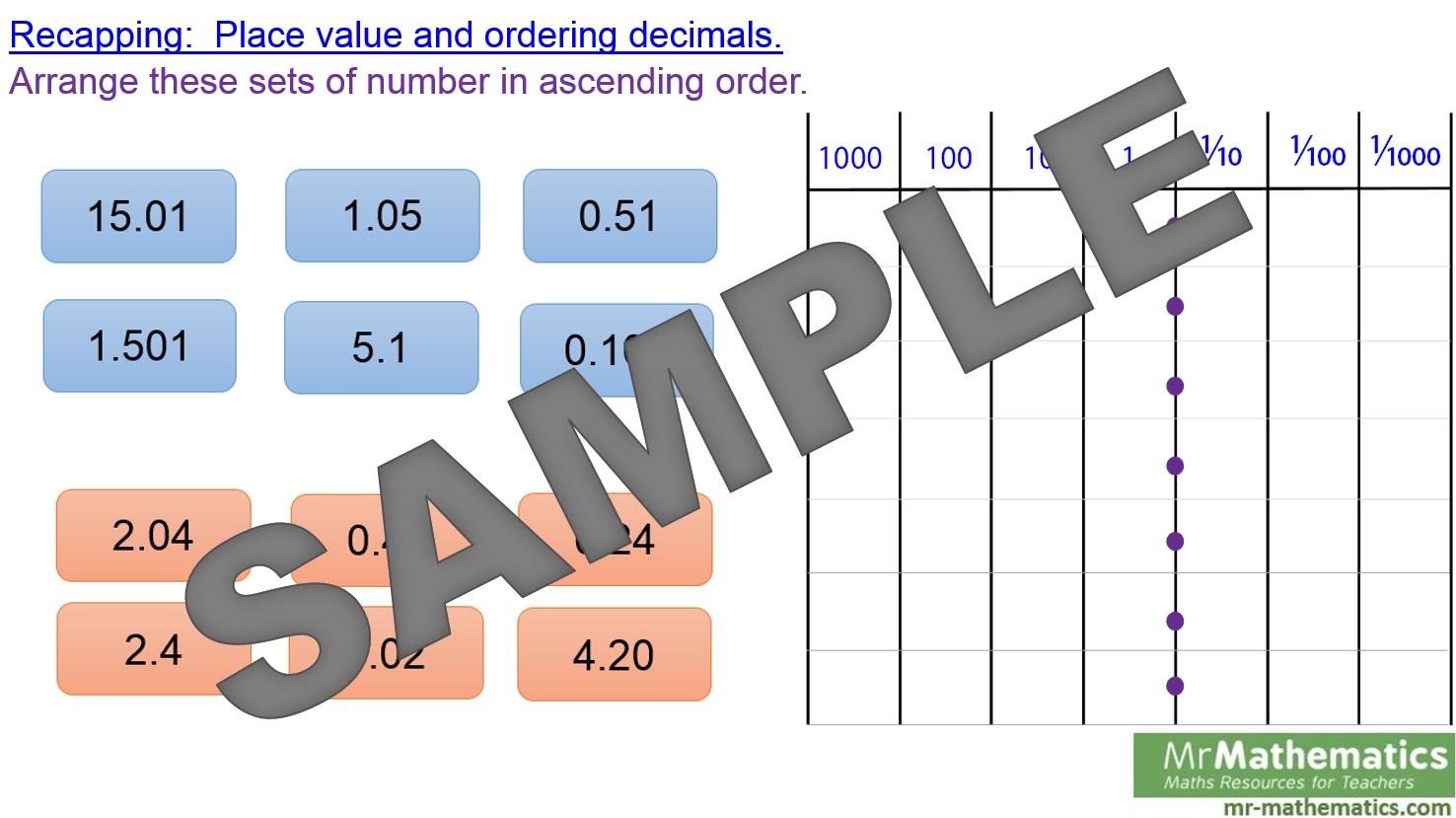 Dividing Decimals Worksheet Gcse