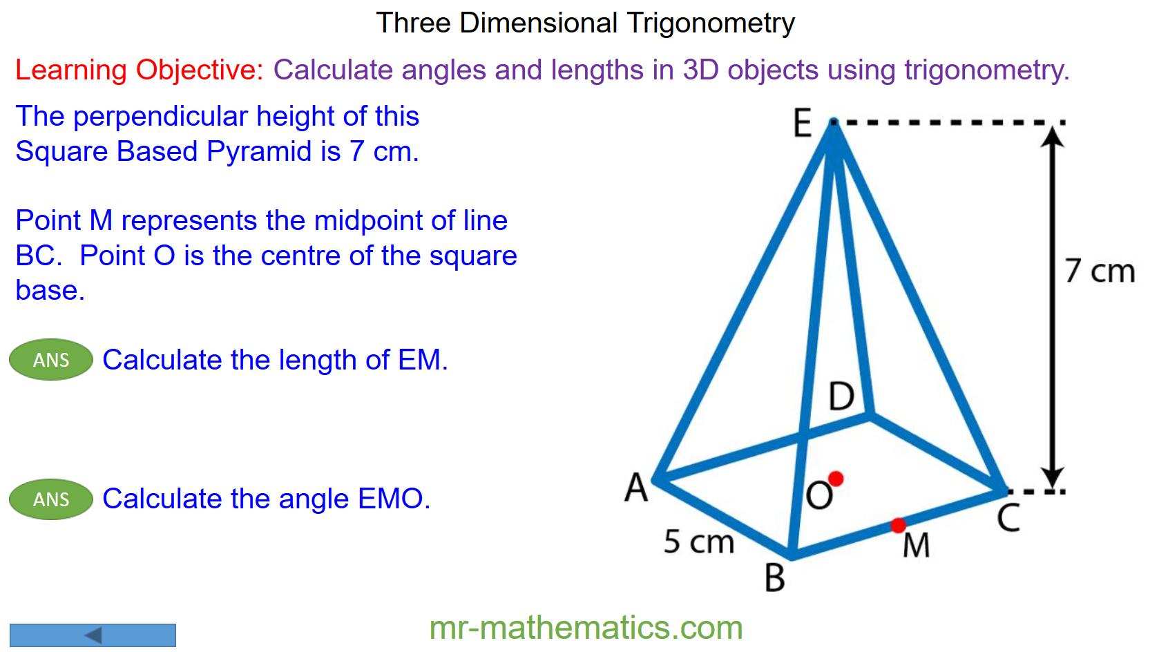 Solving 3d Problems Using Trigonometry