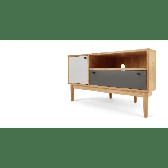 campton meuble tv d angle chene