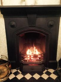 A traditional open fire