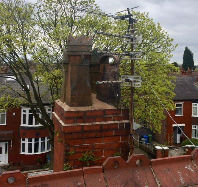 chimney stack and pot