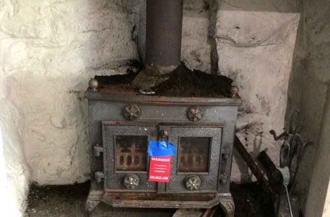 soot on top of a multi fuel stove
