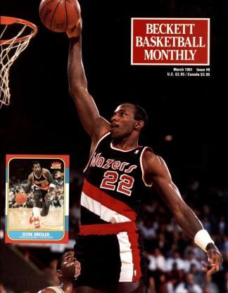 #08 March 1991-Clyde Drexler Basketball Becketts