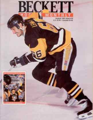 #10 August 1991-Mario Lemieux Hockey Beckett