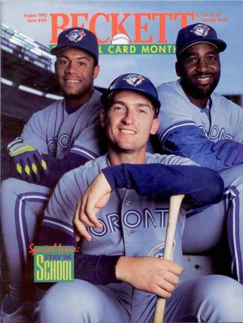 #101 August 1993-Roberto Alomar/Joe Carter/John Olerud Baseball Beckett