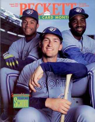 #101 August 1993-Roberto Alomar/Joe Carter/John Olerud Baseball Becketts