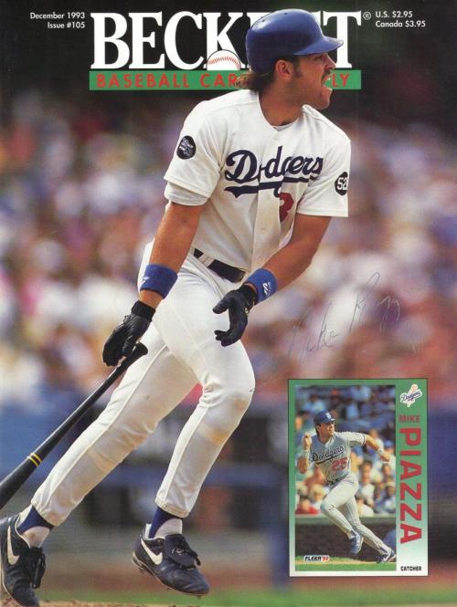#105 December 1993-Mike Piazza Baseball Beckett