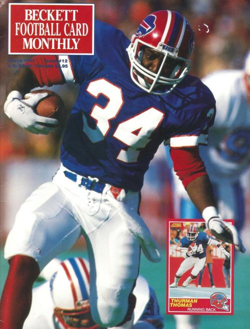 #12 March Thurman Thomas Football Beckett