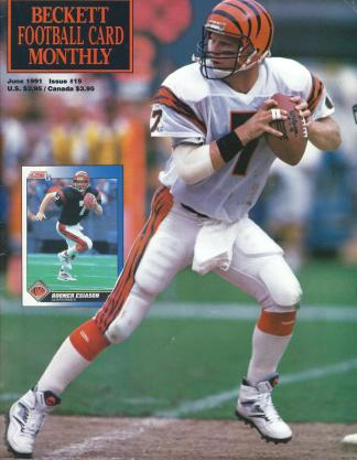#15 June 1991-Boomer Esiason Football Becketts