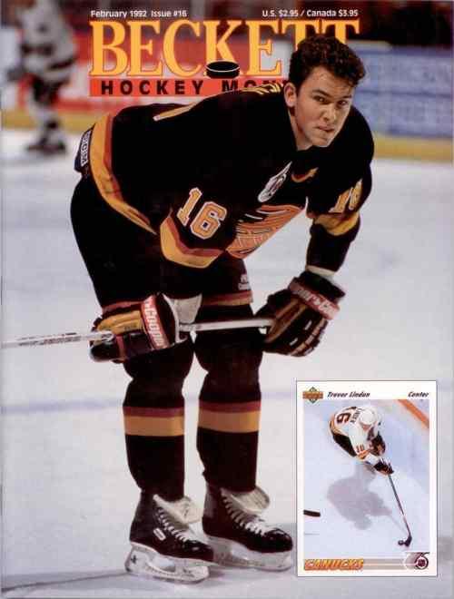 #16 February 1992-Trevor Linden Hockey Beckett