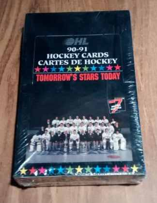 1990-1991 7th Inning Sketch OHL Hockey Sealed Wax Box