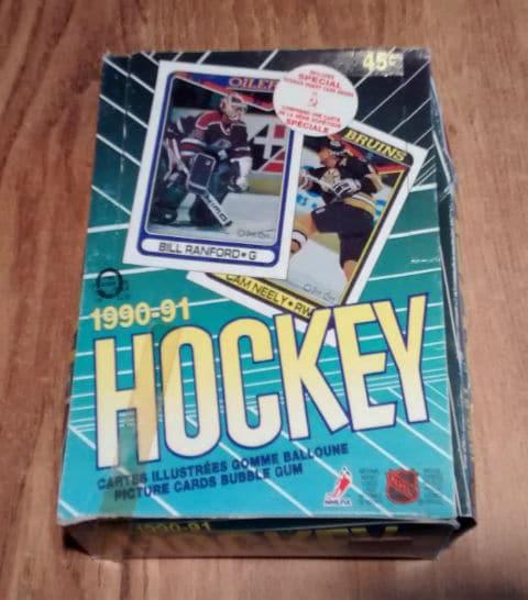 1990-91 O Pee Chee OPC Hockey Box